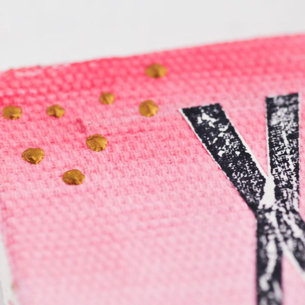 Ombré Mini Canvas Valentine Project