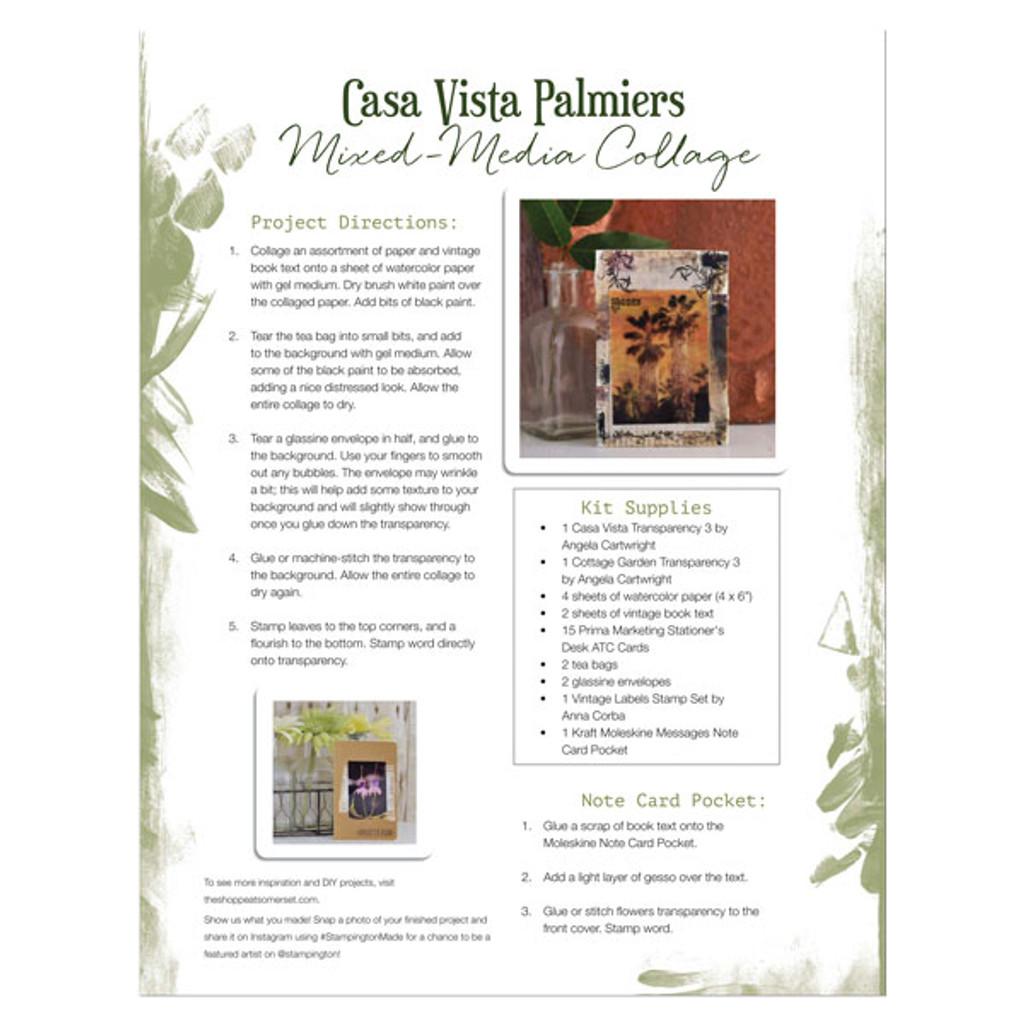 graphic regarding Printable Transparency referred to as Casa Vista Palmiers Transparencies 2 Tactics Tasks + A