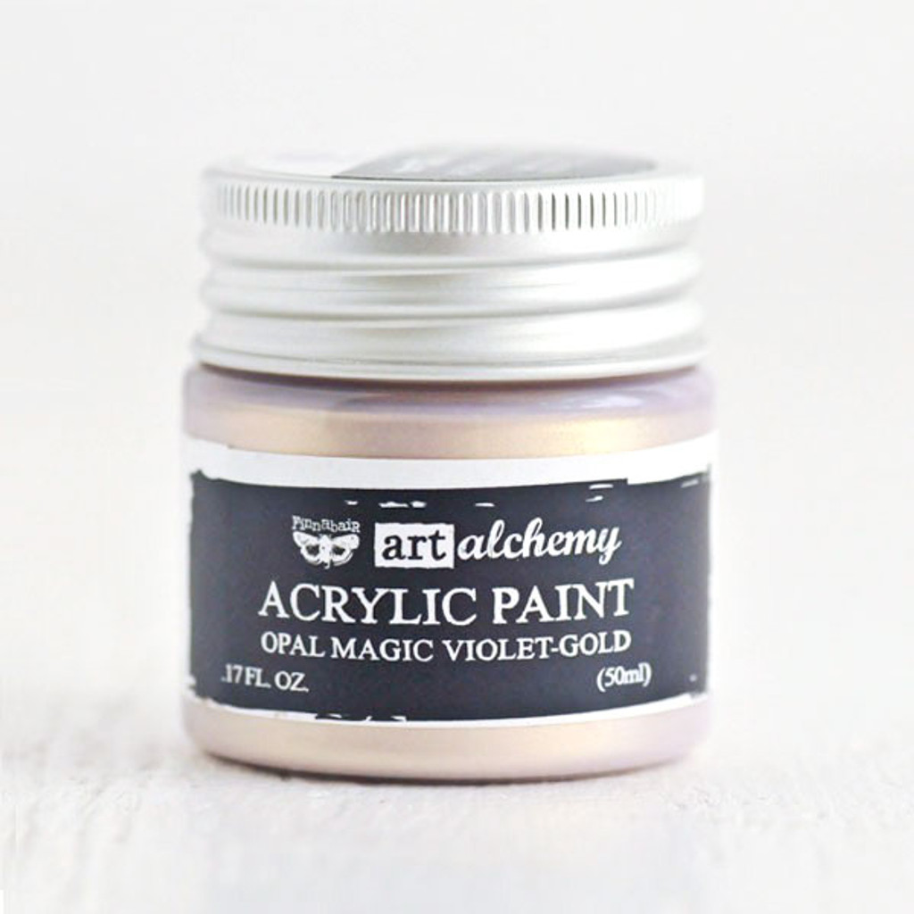 Art Alchemy — Finnabair Acrylic Paint — Opal Magic Violet Gold