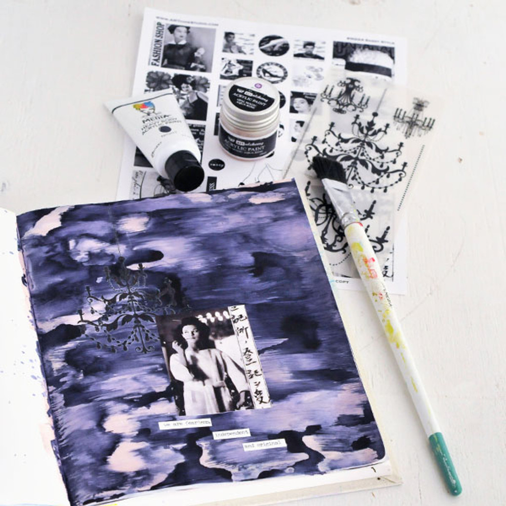 Fearless, Independent, and Original Art Journal Page by Sarah Donawerth