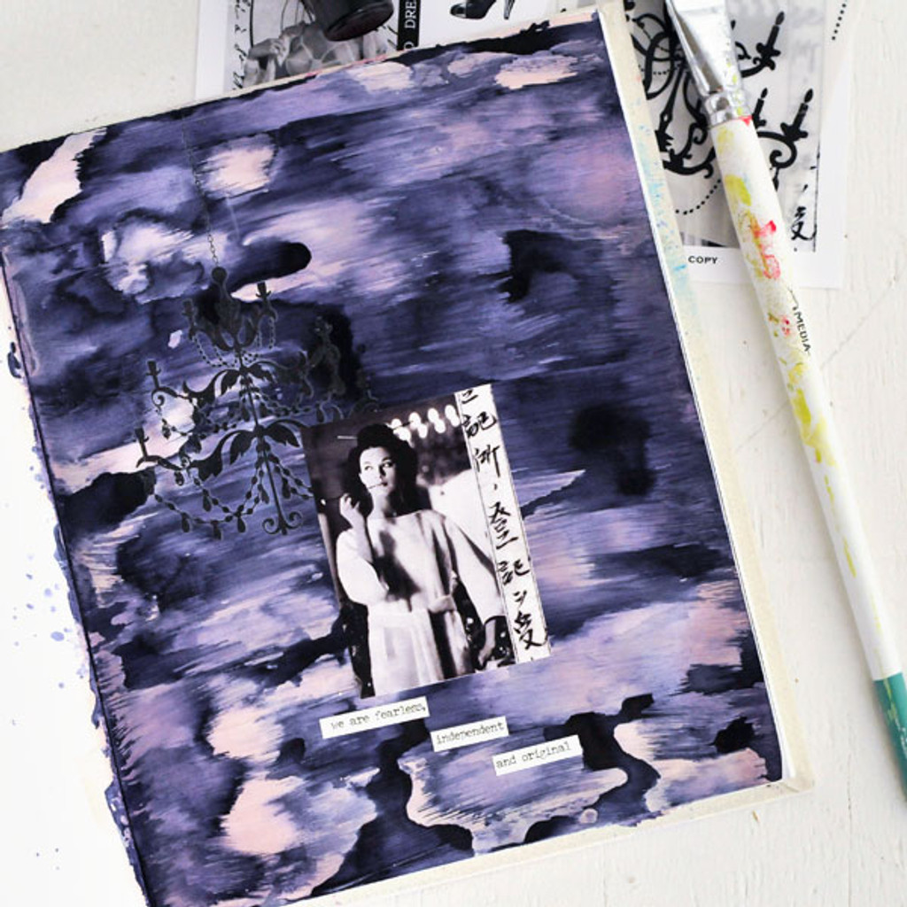 Fearless and Independent Original Art Journal Page by Sarah Donawerth