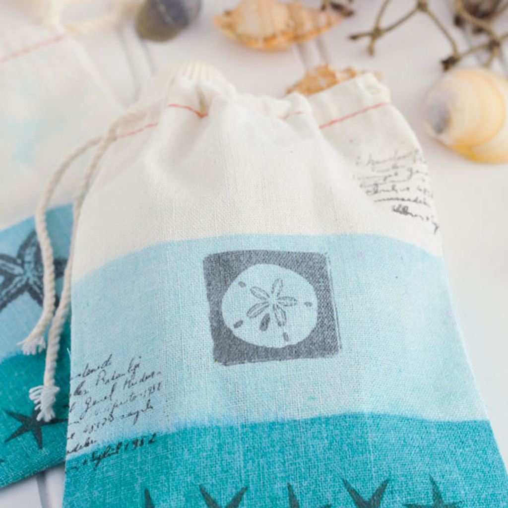 Down by the Seashore Ombré Muslin Bags Project