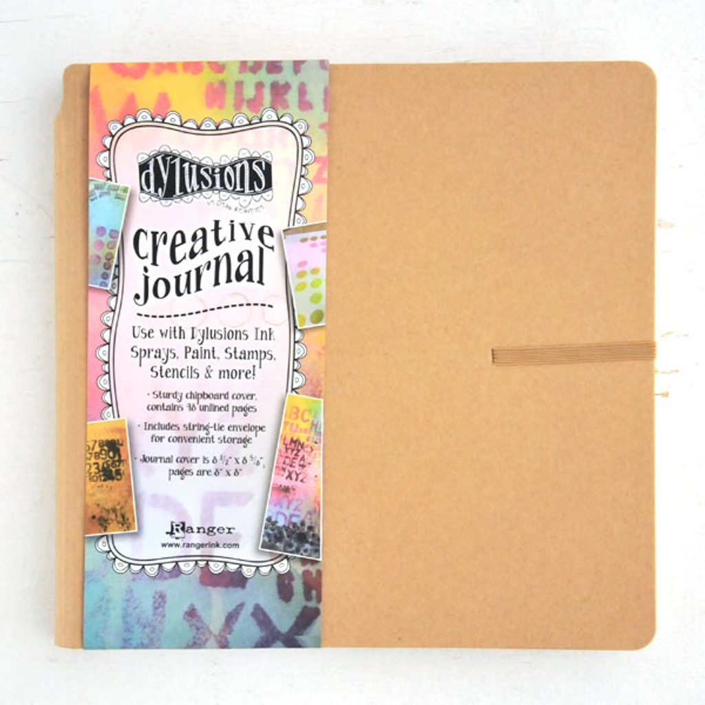 Ranger Ink Dylusions Square Creative Journal by Dyan Reaveley — Kraft