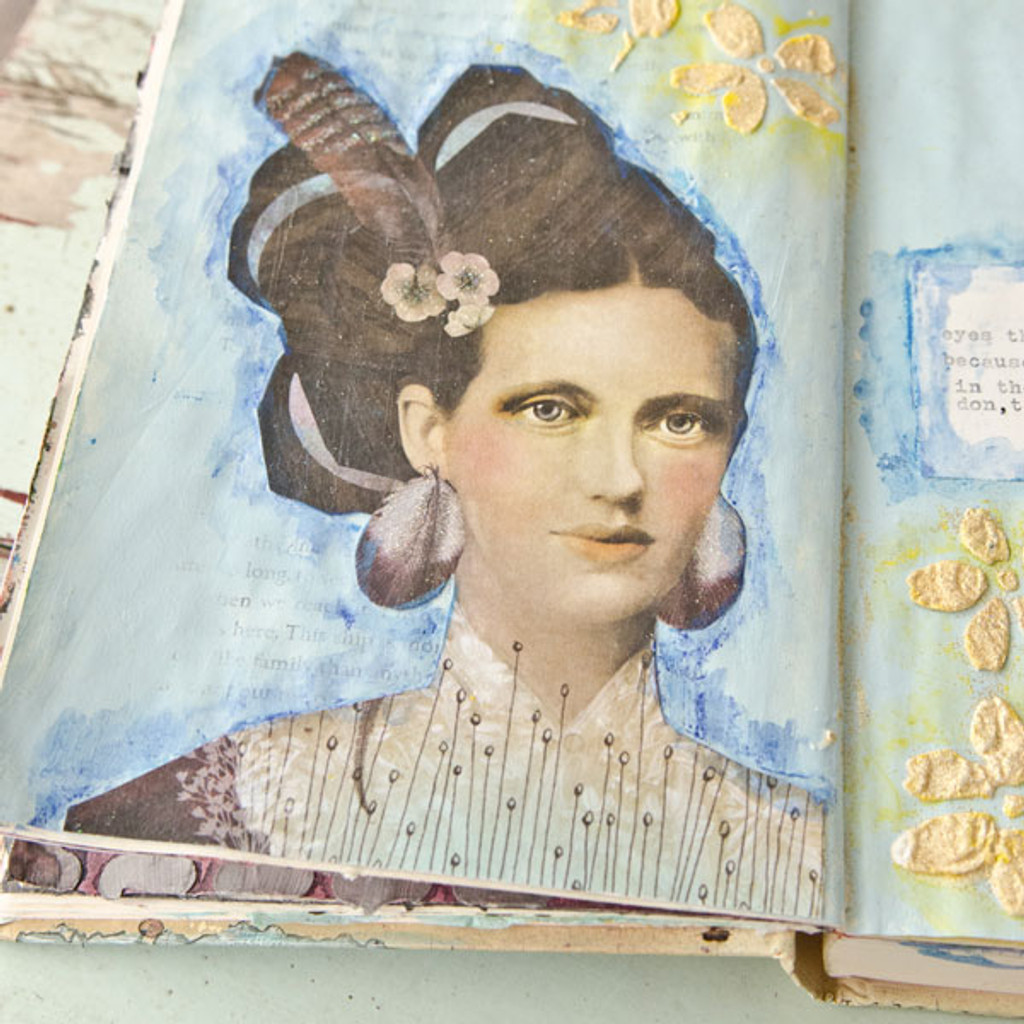 Glittering Eyes Art Journal Page