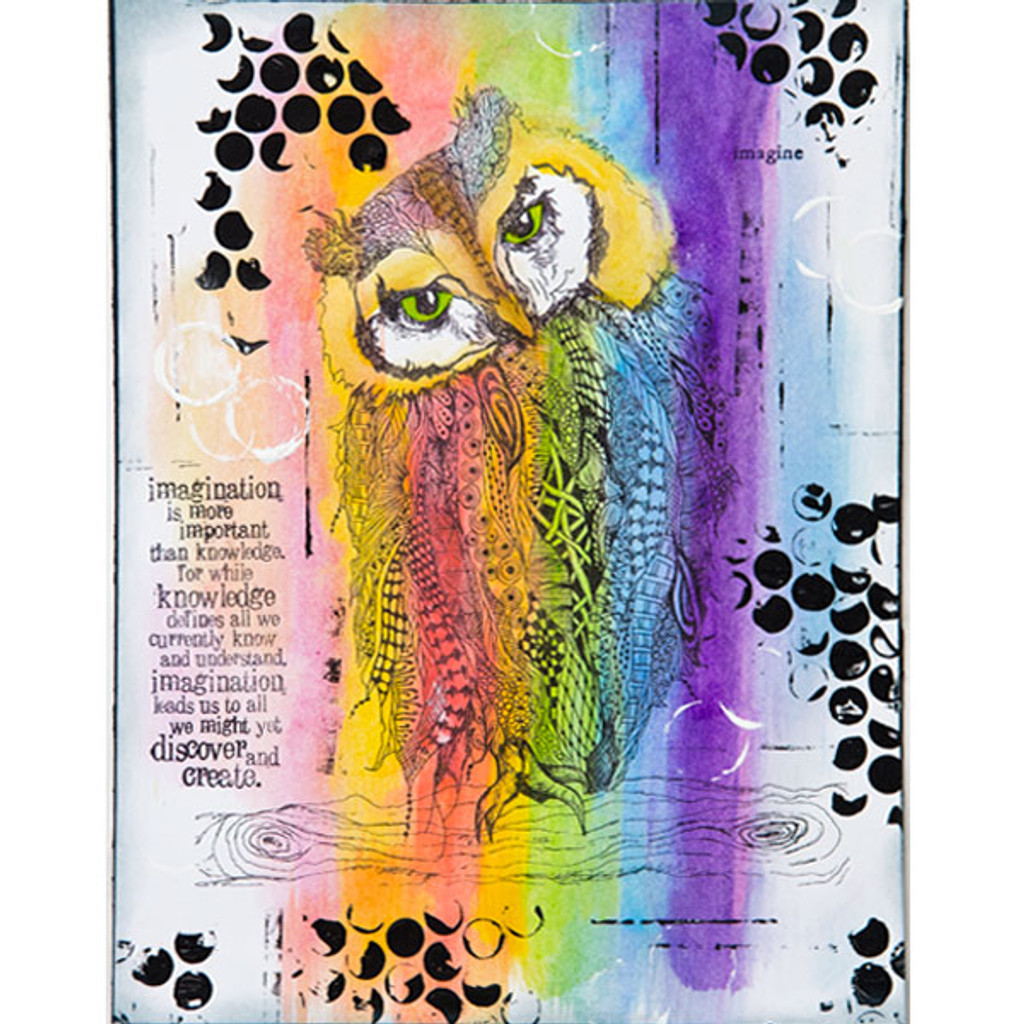 The Coloring Studio Mixed-Media Pages Three-Ways by Renee Zarate