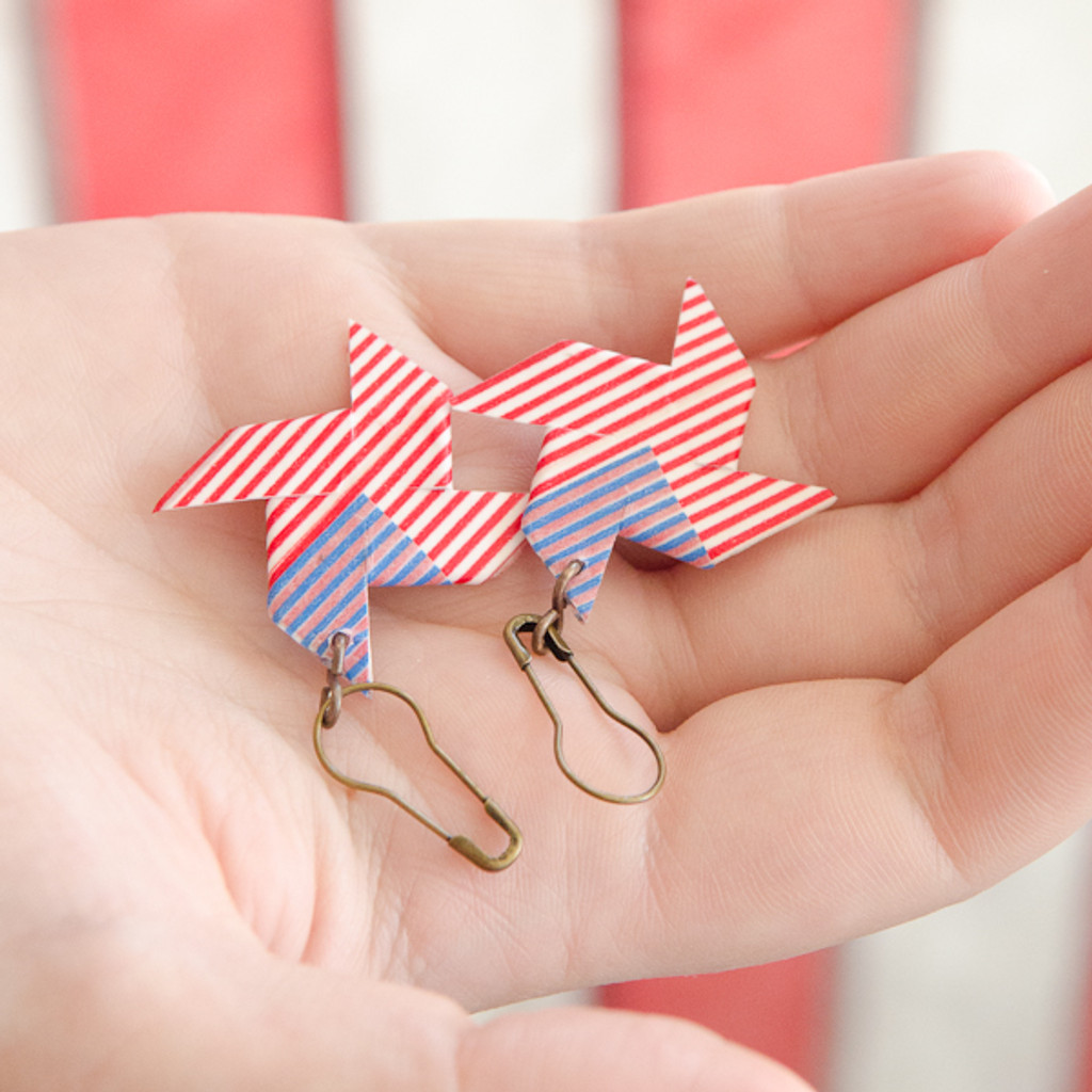 Patriotic Pinwheel Earrings Project