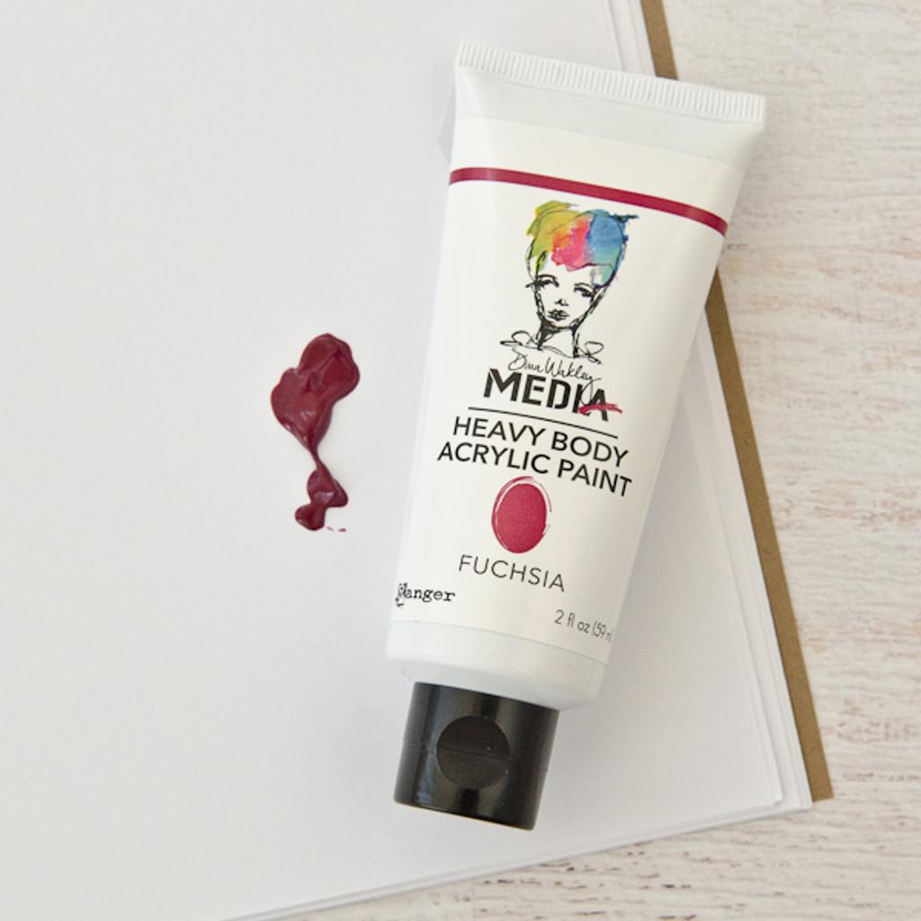 Ranger Ink Dina Wakley Media Heavy Body Acrylic Paint — Fuchsia