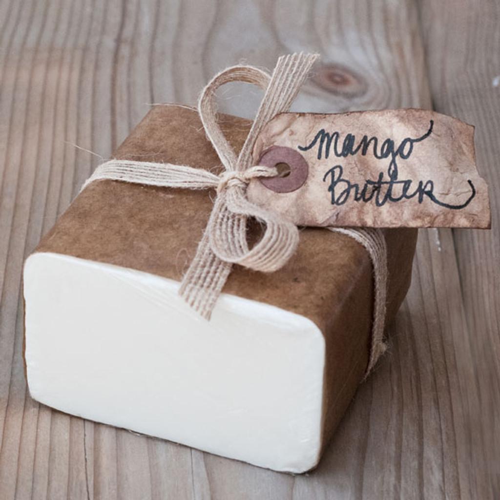 Mango Butter Soap Base - 1 lb Wrapped Bar