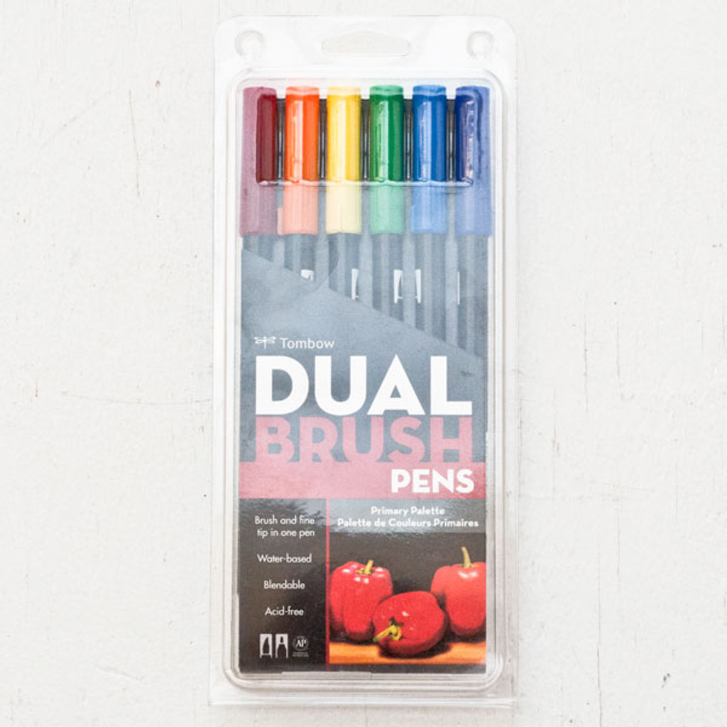 Tombow Dual Brush Pen Set — Primary