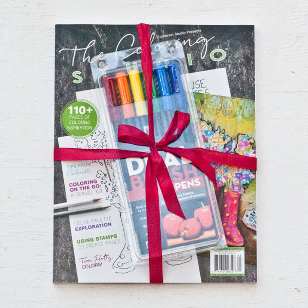 The Coloring Studio Gift Bundle with Tombow Dual Tip Brush Markers