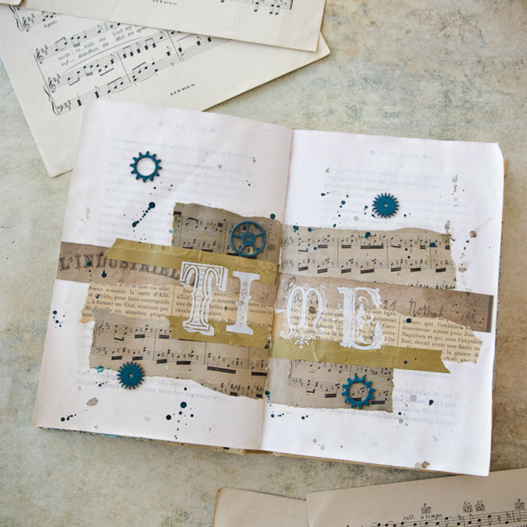 Time Art Journal Page Project