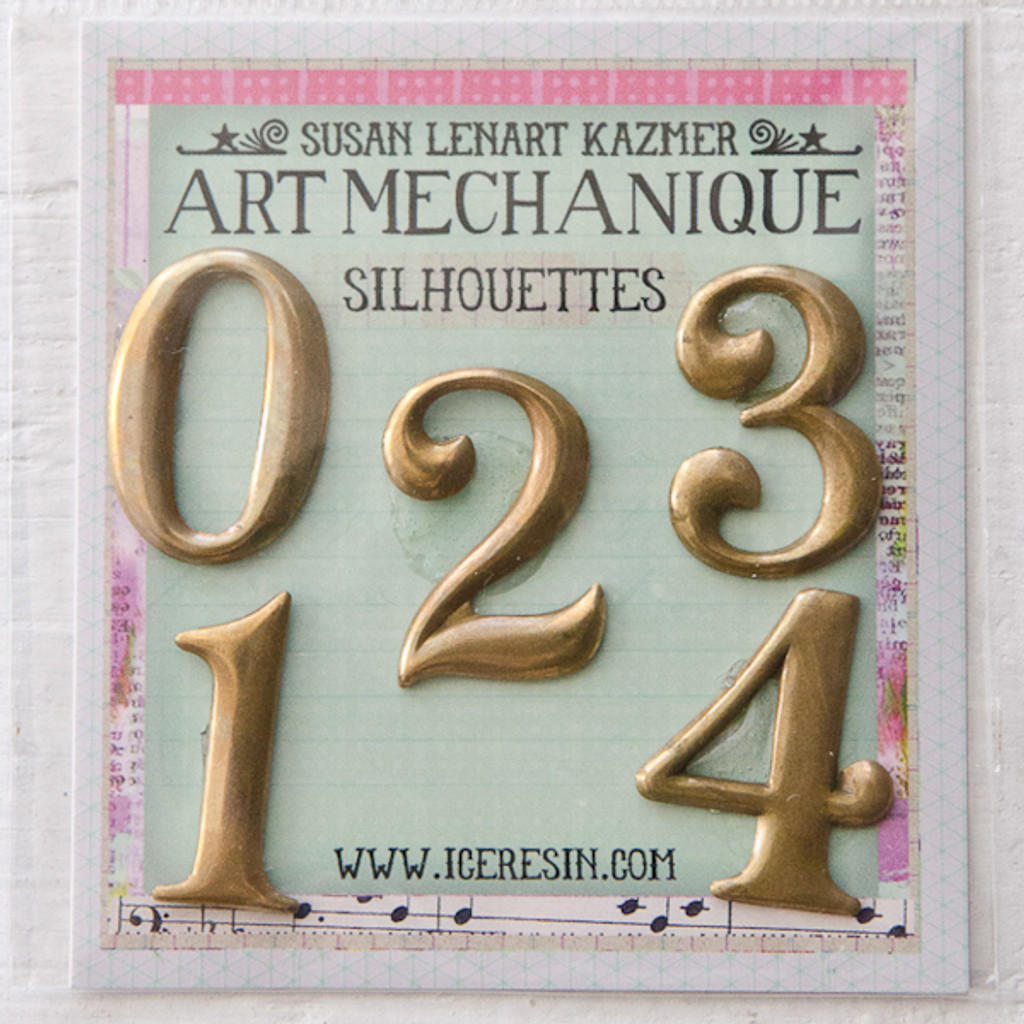 Art Mechanique Silhouette Blanks - Numbers