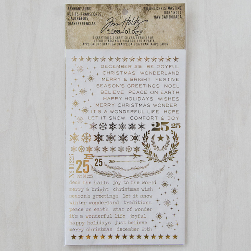 Advantus Tim Holtz Idea-ology Remnant Rubs Gilded Christmastime