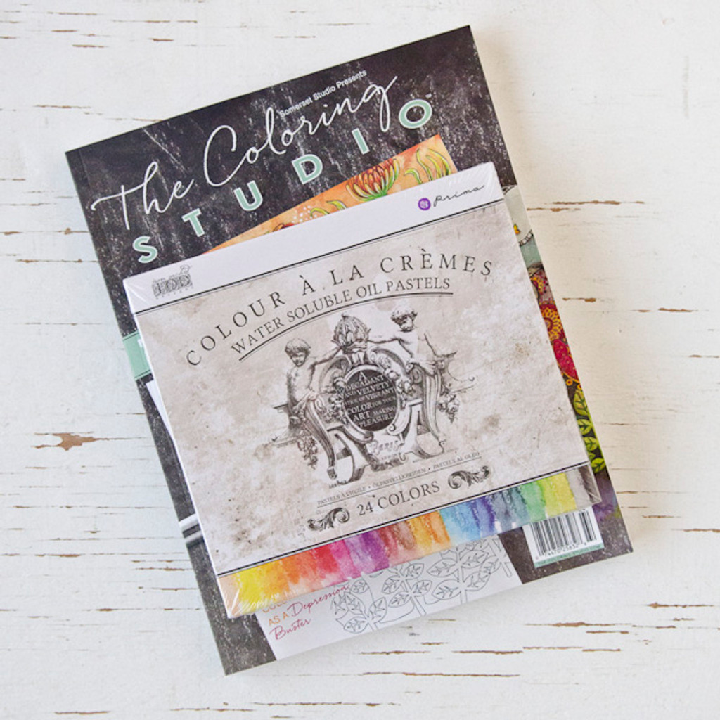 The Coloring Studio Gift Bundle with Prima Marketing Water-Soluble Oil Pastels