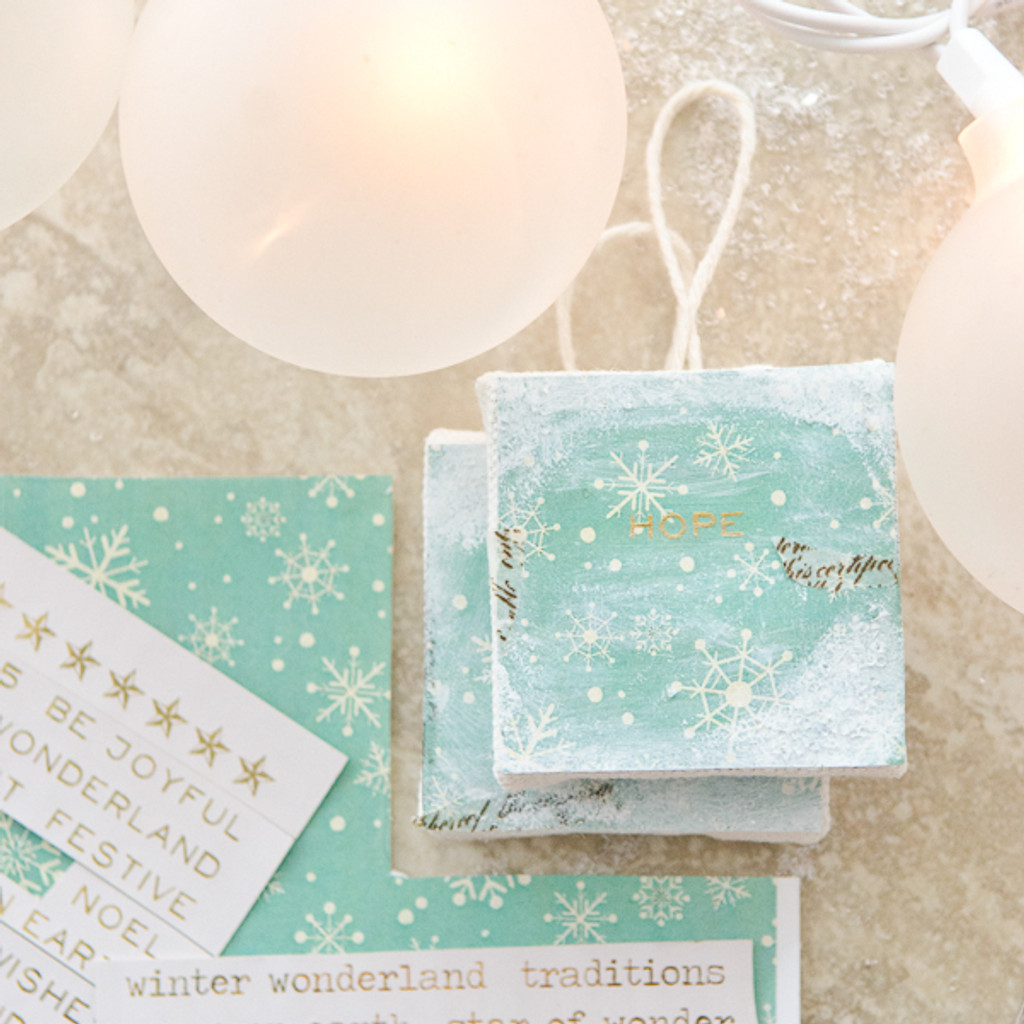 Teeny Canvases to Trim Your Tree Project by Christen Hammons