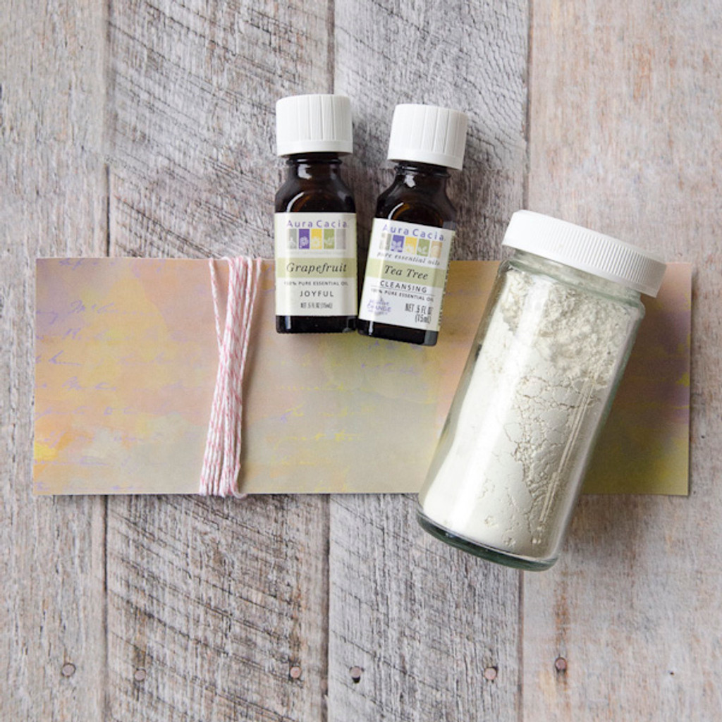 Citrus and Bentonite Clay Mask Kit with Tea Tree Oil