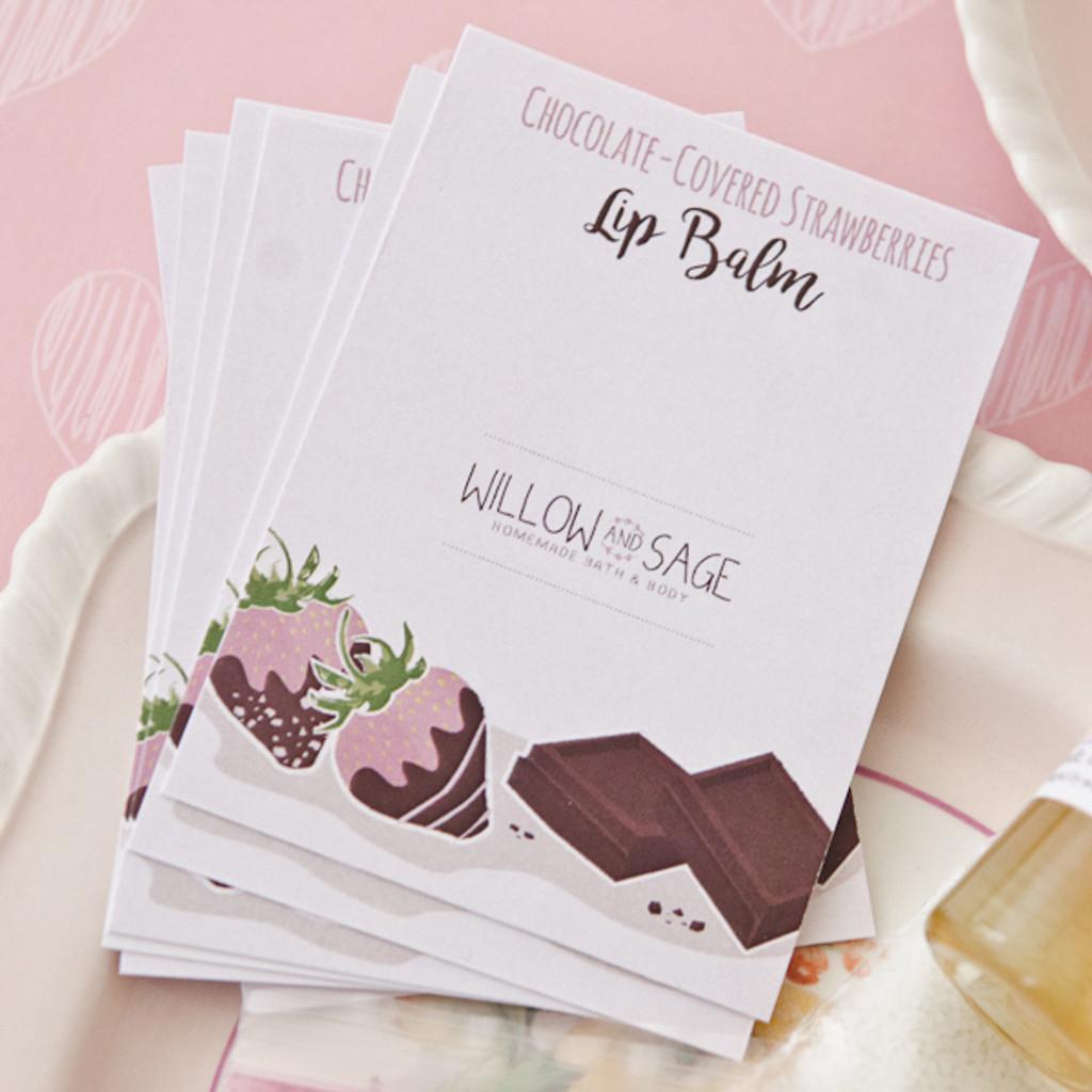 Chocolate-Covered Strawberries Lip Balm DIY Kit