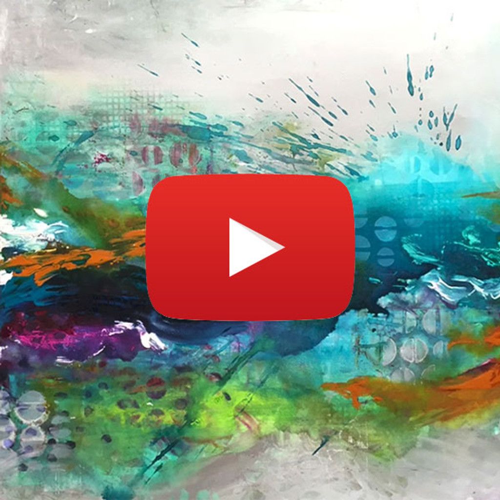 Dina Wakley Canvas Painting Video by Ranger Ink