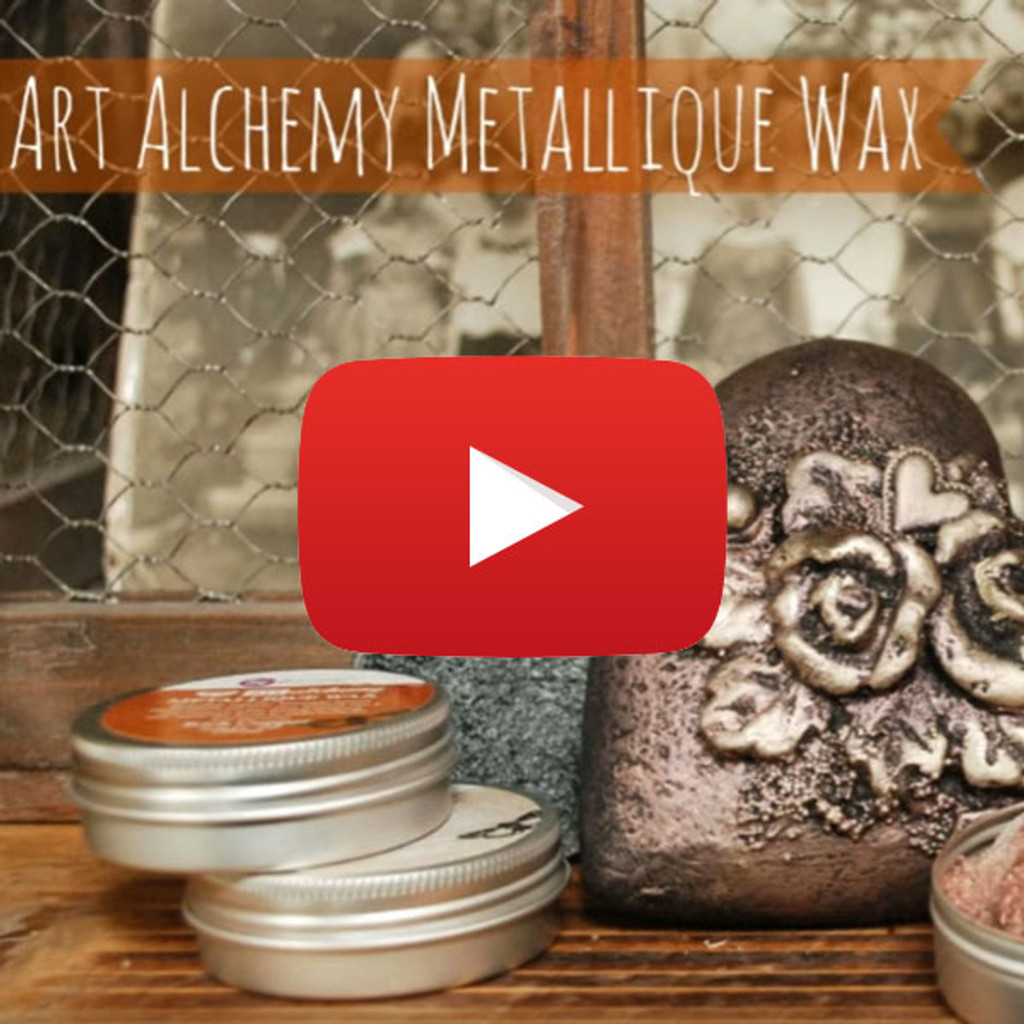 Finnabair Demonstrates Art Alchemy Metallique Waxes