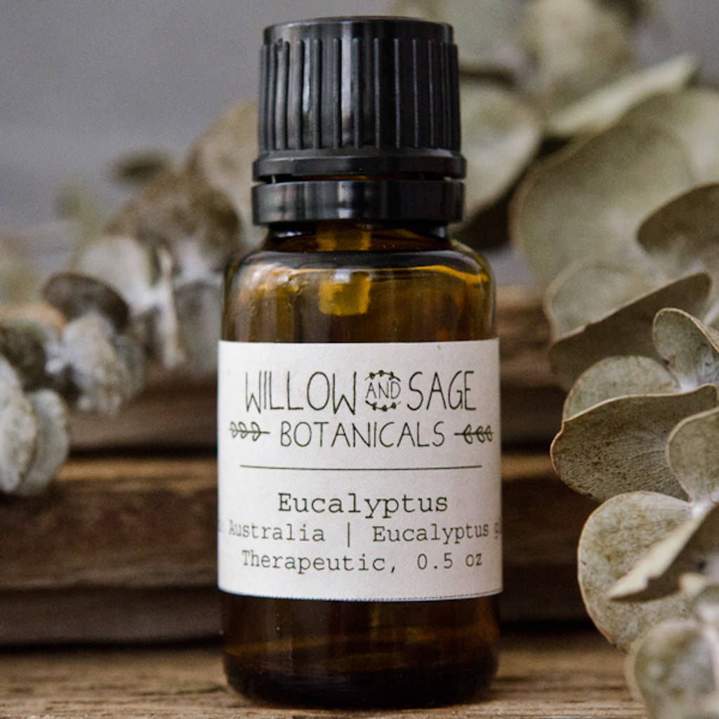 Eucalyptus Essential Oil by Willow and Sage Botanicals, 0.5 oz.