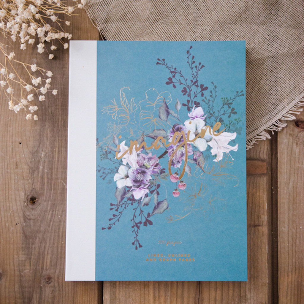 Jewel Flower Clothbound Notebook by Papaya Art