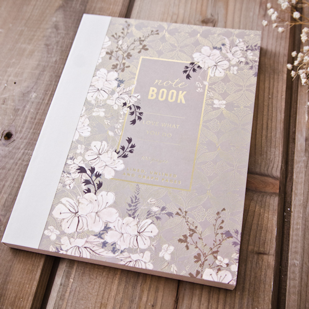 Floral Mist Clothbound Notebook by Papaya Art