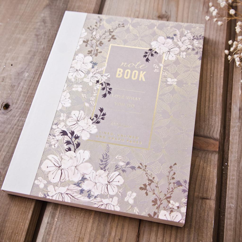 Floral Mist Clothbound Notebook by Papaya Art