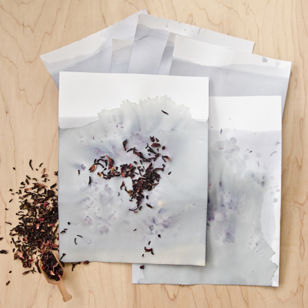 Hibiscus Hand-Dyed Stationery Set