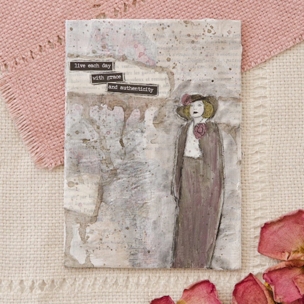 Live with Grace and Authenticity Canvas