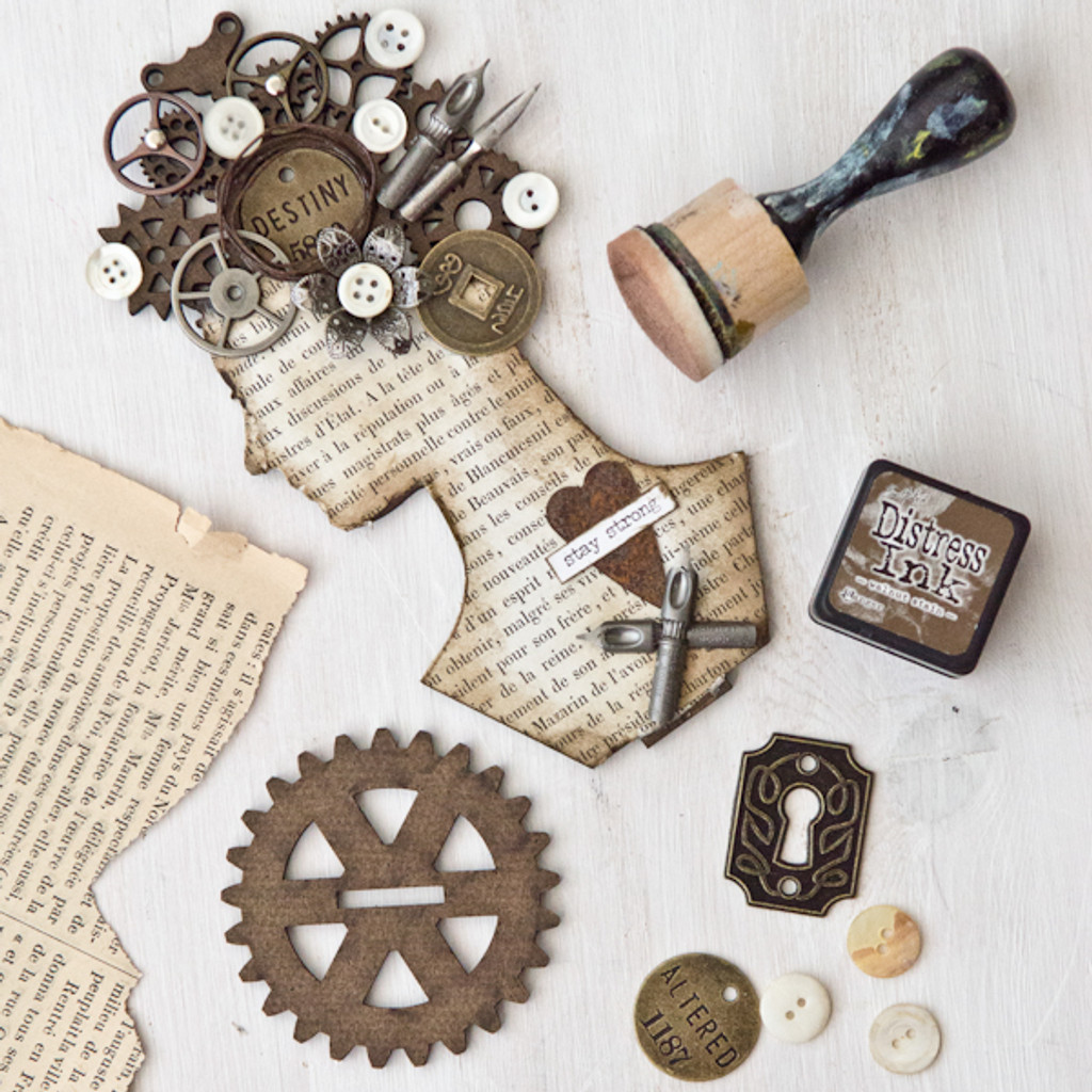 Stay Strong: Steampunk Assemblage Woman Project