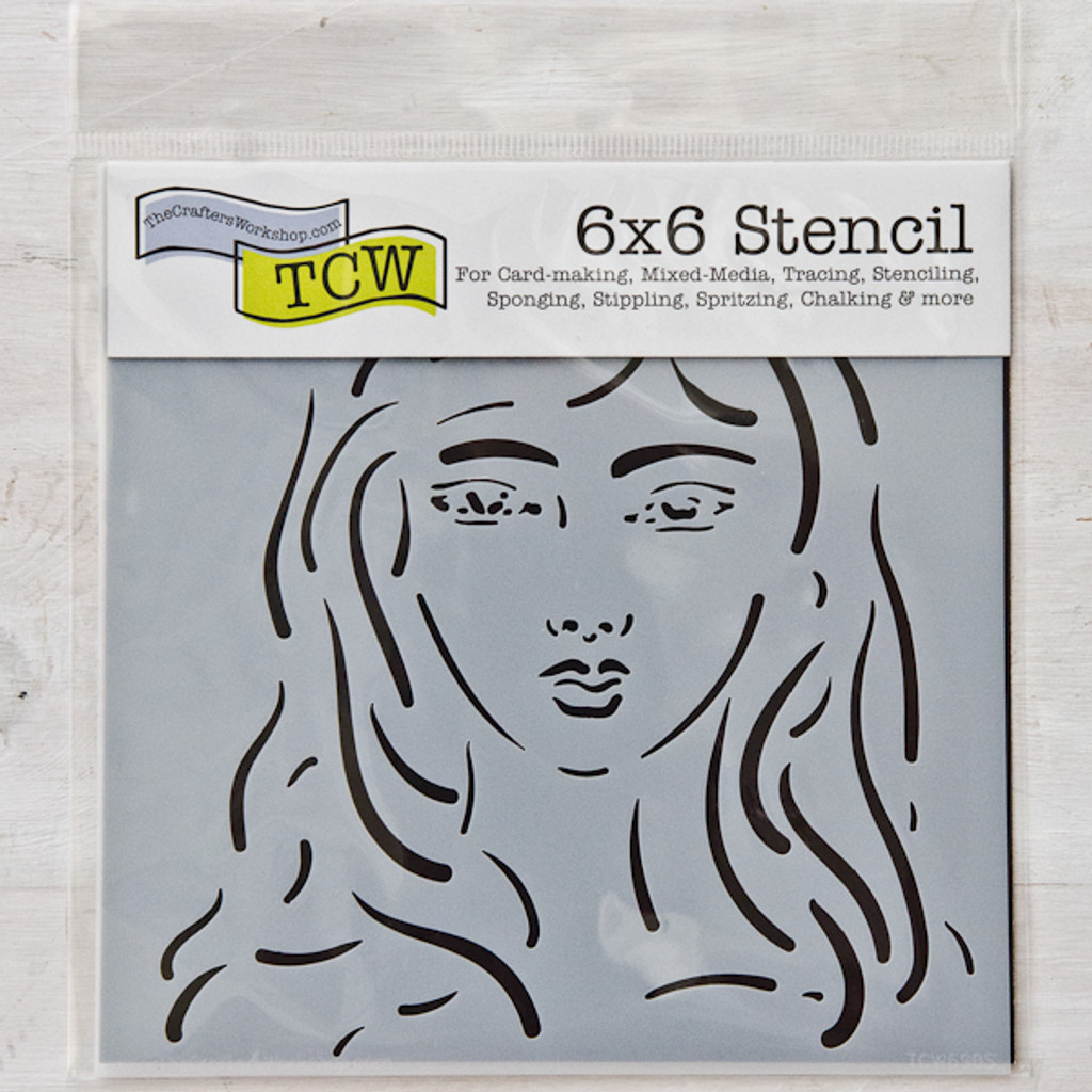 The Crafter's Workshop Emma Stencil by Milagros C. Rivera — 6 x 6