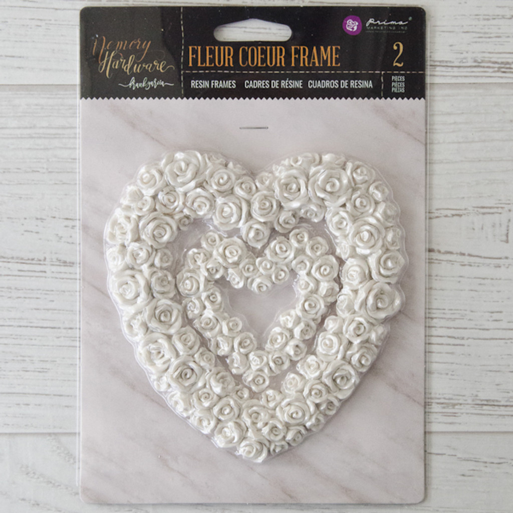 Memory Hardware Fleur Coeur Resin Frames by Frank Garcia and Prima Marketing