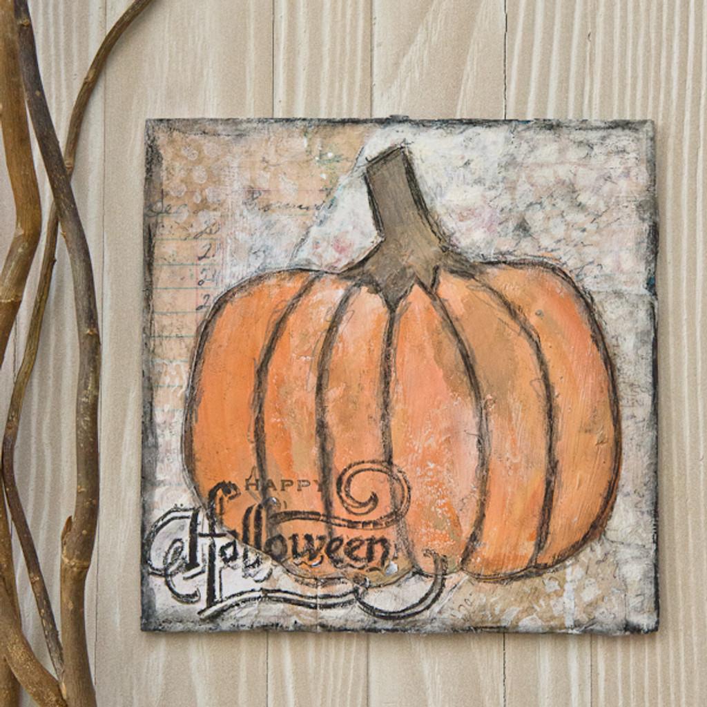 Scribbly Pumpkins Canvas