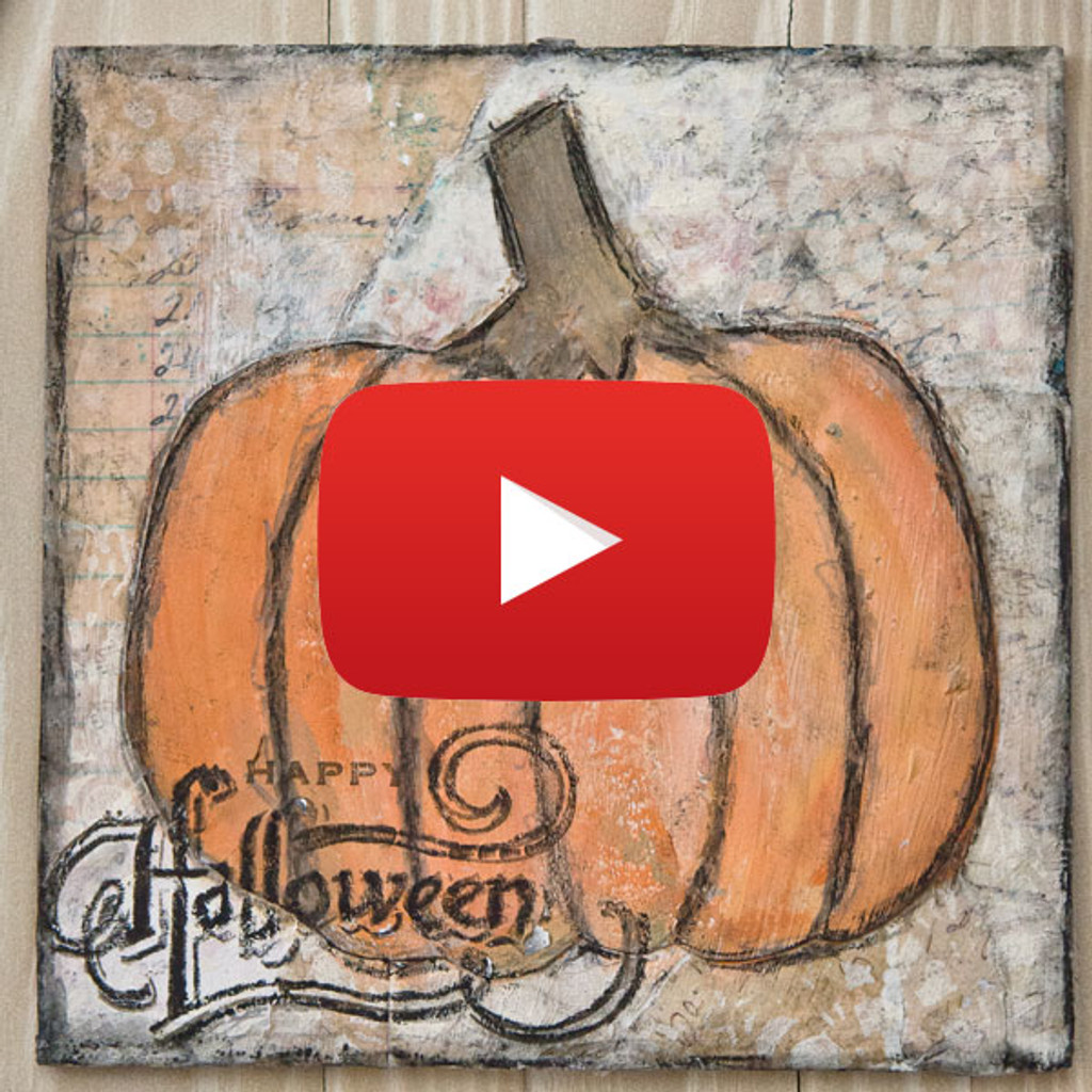 Scribbly Pumpkin Canvas Video