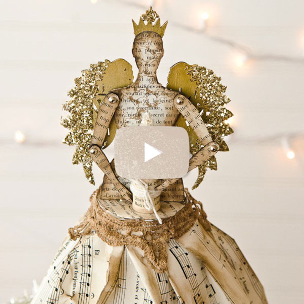 Steampunk Angel Christmas Tree Topper Video