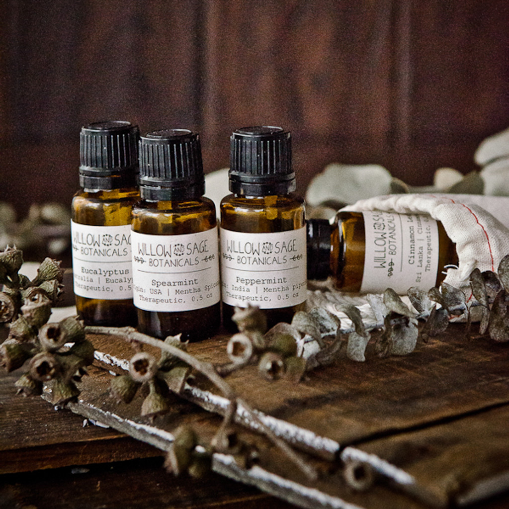 Energizing Minty Scents Essential Oil Gift Set
