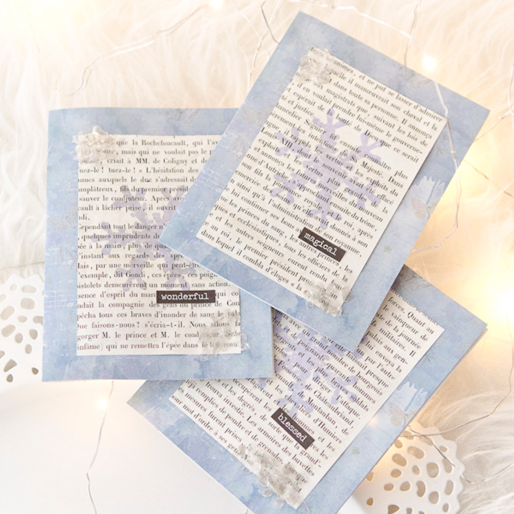 Winter Snowflake Cards Project