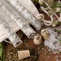Peppermint Bath Salts Vials DIY Kit