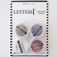 Letter It Embossing Powders 4 Pack, Tinsels