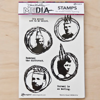 Dina Wakley Stamps - Weird is Good