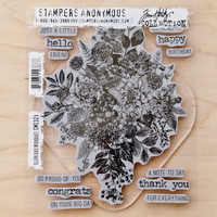 Stampers Anonymous Tim Holtz Cling Stamps Glorious Bouquet