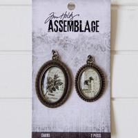 Tim Holtz Assemblage Charms — Brass Bezels