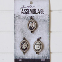 Tim Holtz Assemblage Links 3/Pkg - Jeweled Photo
