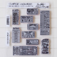 Stampers Anonymous Tim Holtz Cling Stamps Ticket Booth