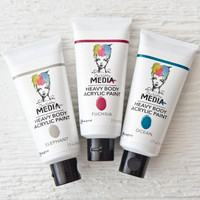 Ranger Ink Dina Wakley Media Heavy Body Acrylic Paint Set — Jewel Tones