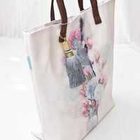 Papaya Art Cactus Flower Bucket Tote
