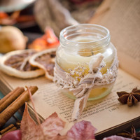 Homemade Fall Candle with 8 Scent-Sational Blends by Danielle Williams