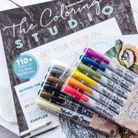 The Coloring Studio Gift Bundle with Tim Holtz Distress Crayon Sets