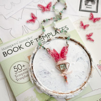 Shrink Plastic Butterfly Template Necklace by Johanna Love