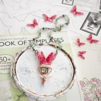 Shrink Plastic Butterfly Template Necklace by Johanna Love